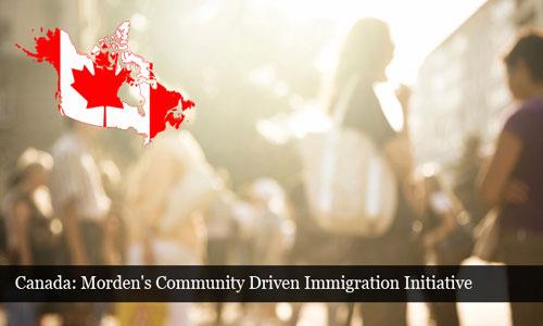 Canada Morden Community Driven Immigration Initiative attracts immigrants
