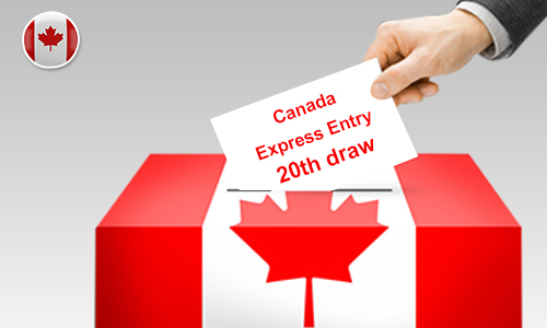 Canada Conducts 20th Express Entry Draw