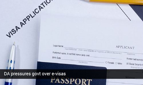 Democratic Alliance pressures SA government on e-visas