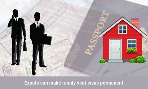Saudi Arabian family visit visas can be made permanent by expats