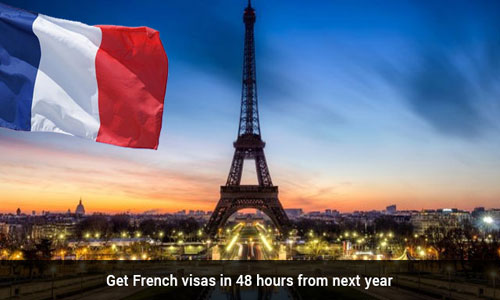 Indians will be issued French tourist visas within 48 hours