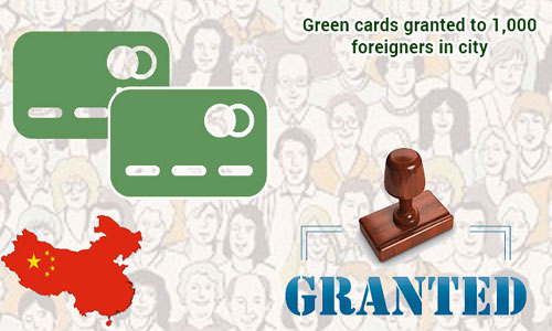 Over 1,000 foreigners in Shanghai attain Green cards