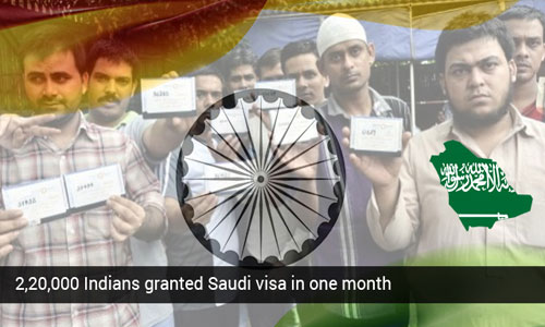 Over 220,000 Saudi visas were granted to Indians in one month
