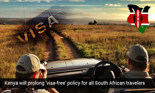 South African travelers to Kenya may avail 'visa-free' policy