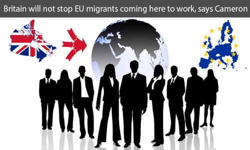 UK will not stop EU migrants coming into the country for work