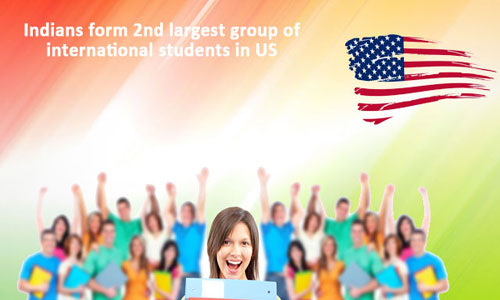 Indians account for the second largest group of international students in the US
