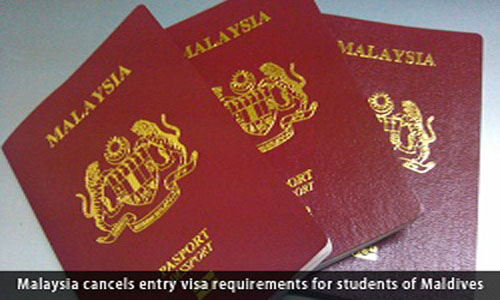 Malaysia cancels entry visa requirements for students of Maldives