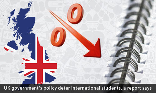 UK government's policy deters international students, a report says