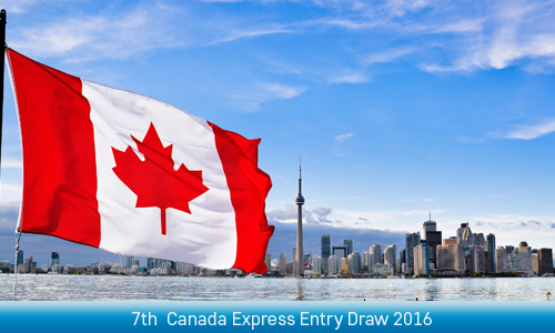 7th Draw for Canada Express Entry 2016 has invited 1014 candidates