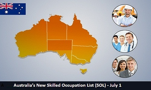 Australia's New Skilled Occupation List (SOL) - July 1
