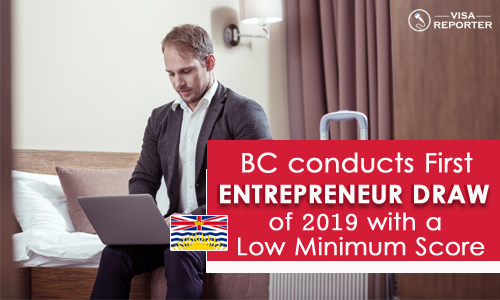 BC conducts First Entrepreneur Draw of 2019 with a Low Minimum Score
