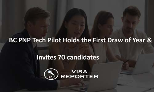 BC PNP Tech Pilot Holds the First Draw of Year and Invites 70 Candidates
