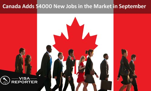 Canada Adds 54000 New Jobs in the Market in September
