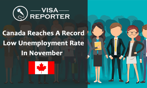 Canada Reaches A Record Low Unemployment Rate In November