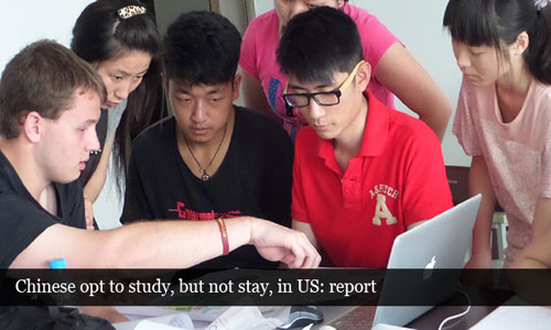 Chinese students constitute the major share in US: report
