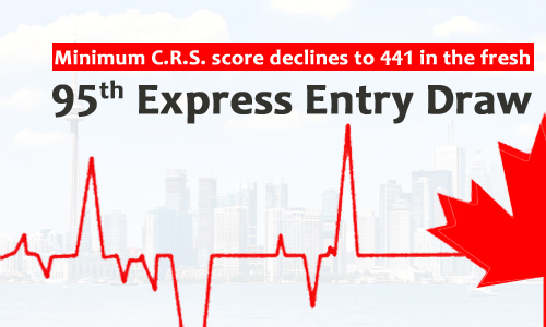 Minimum CRS score declines to 441 in the fresh Express Entry