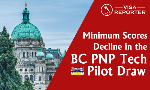 Minimum Scores decline in the BC PNP Tech Pilot Draw