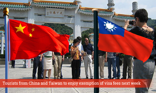 Thailand exempts visa fees for China, Taiwan nationals next week