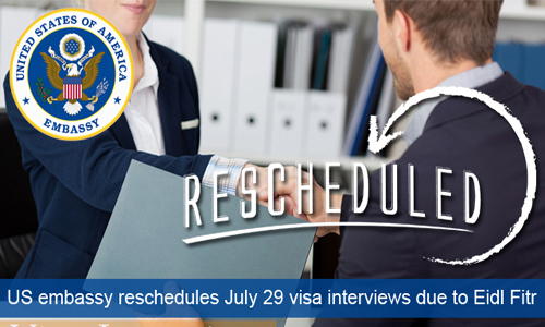US embassy in Manila reschedules interviews on 28 July 2014