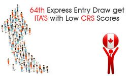 64th Express Entry draw get ITA's with low CRS scores
