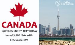 Canada Express Entry 104th Draw: Issued 3,900 ITAs with CRS Score 449
